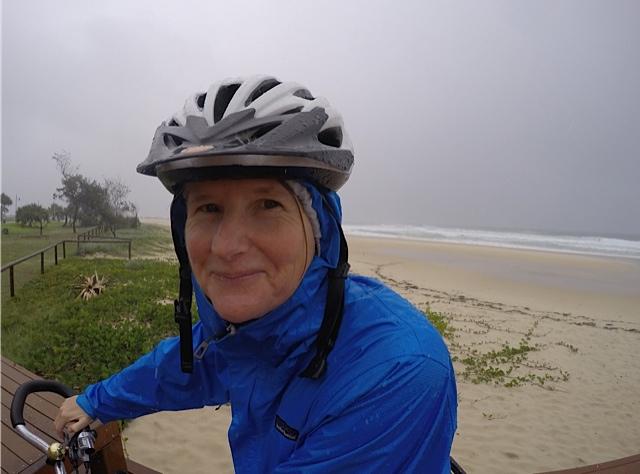 Riding in the rain