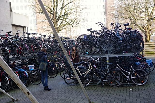 Double tier bike racks