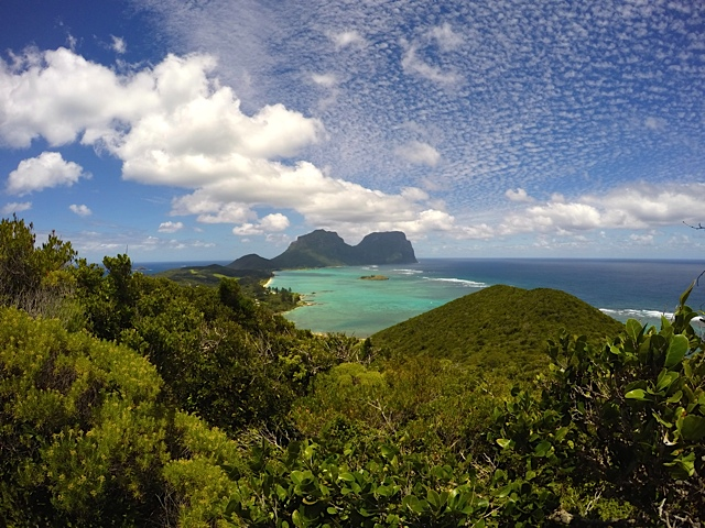Mt Gower and Mt Lidgefield on Lord Howe Island: A UNESCO World Heritage area.