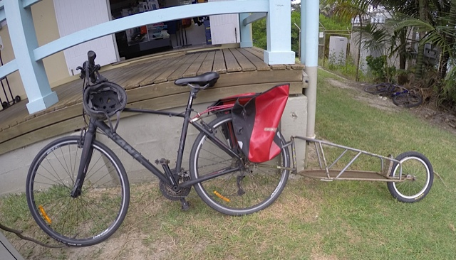 This bike's owner has moved house three times with this trailer.