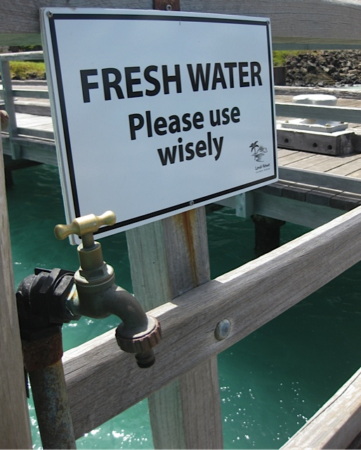 Sustainability is essential. The island has to be self-sufficient for its water supply.