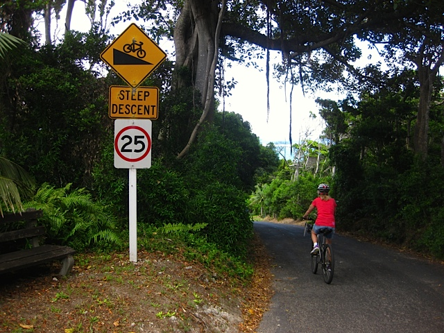 The island's maximum speed limit is 25km/hour.