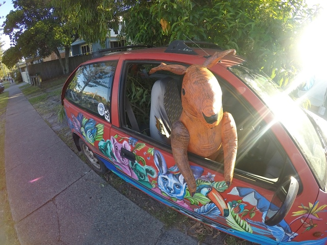 Skippy arrives at Currumbin Wildlife Sanctuary with a car full of gum leaves, ready for a night at Bleach* Boulevard.