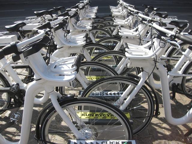 Copenhagen City Bike hire station near Town Hall.