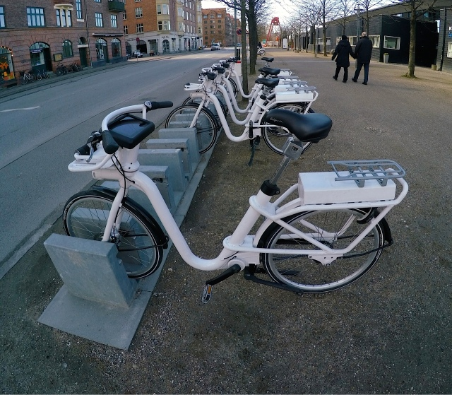 City Bike hire station on Islands Brygge,