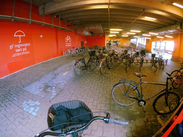 Undercover bicycle parking at Fisketorvet shopping mall.