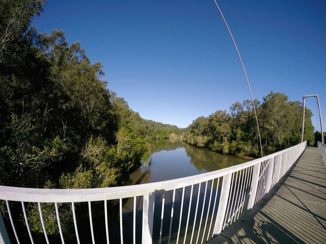 Bridge over inlet from Woolgoolga lake.