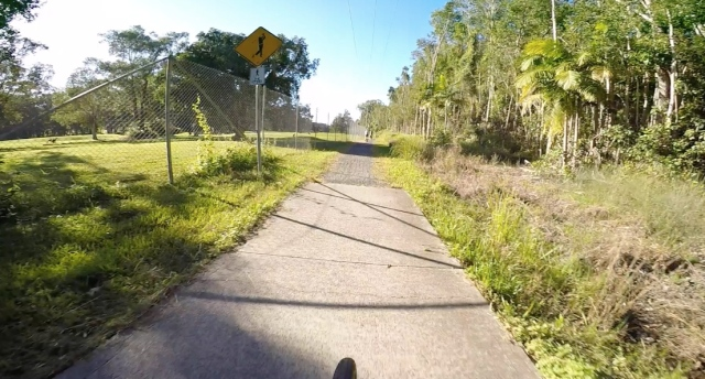 Back to the ease of concrete and bitumen as the trail contrasts with the golf course to the left and paperbark swamp to the right.