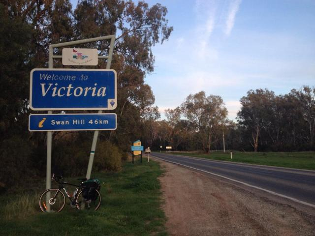 Day 12 of Alida's bicycle ride and she is 754kms from Canberra. [Phote: Alida ]