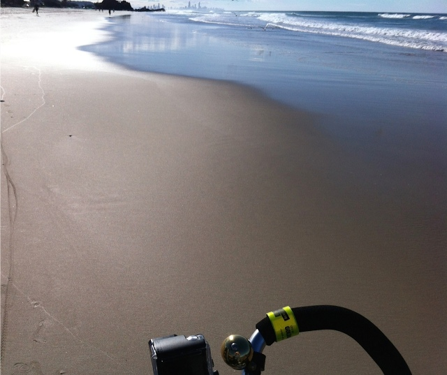 A sandy ride on a short day.