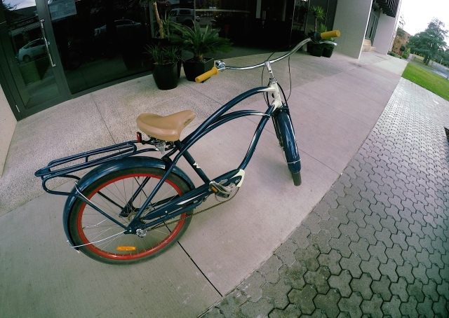 My ride - the blue Cruiser...