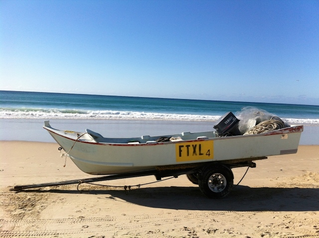 Fishing boat for netting Sea Mullet.