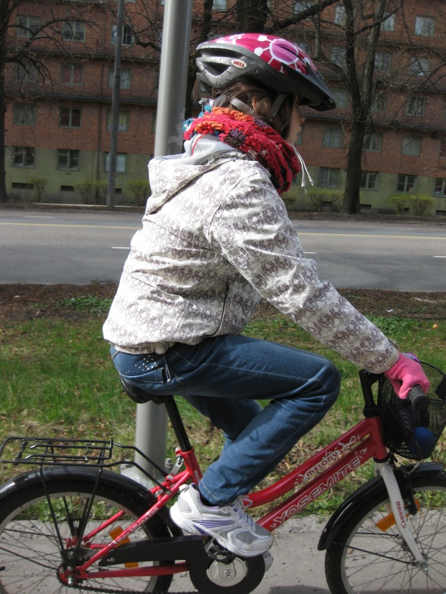 Our young pedalling friend in Oslo.