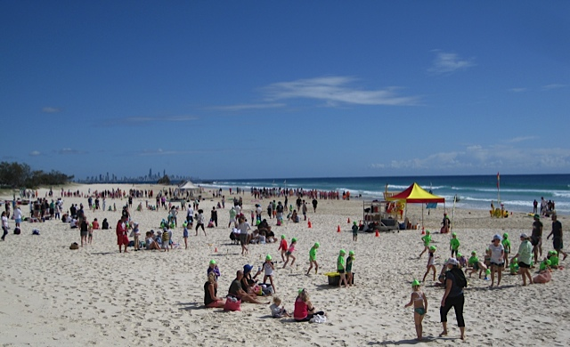 Nipper season at Currumbin Beach