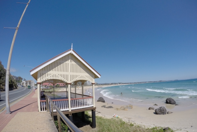The Kirra Point shelter shed.