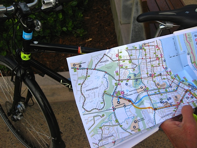 Many local government authorities provide cycling maps to help with planning.