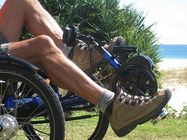Clip-in shoes are recommended to prevent the foot slipping from the pedal.