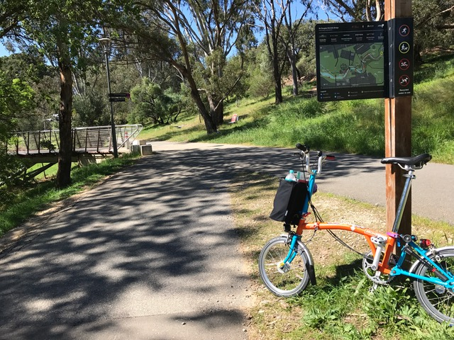 Treadly Brompton Hire on Adelaide Linear Park Trail