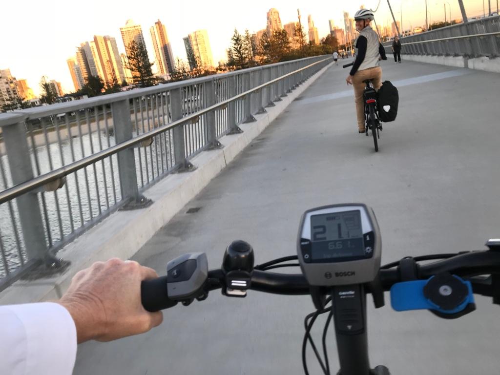 e-bike commute on the Gold Coast