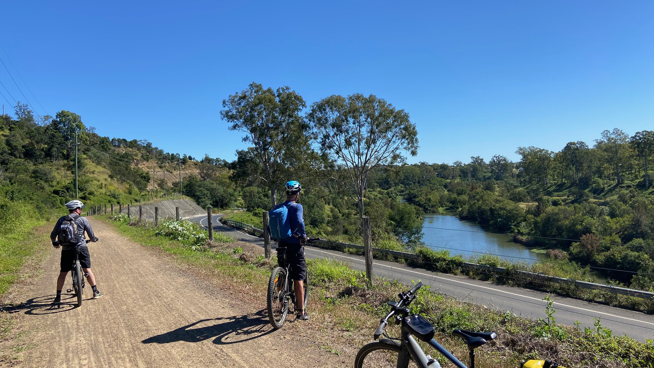 View of the upper reaches of the Brisbane River near Lowood.